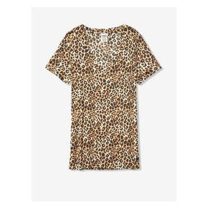 Victorias Secret Womens Leopard Print Tee Top